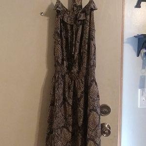 Venus snake print dress